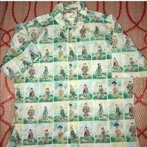 GUY BUFFET by REYN SPOONER  HAWAIIAN  Shirt Large-